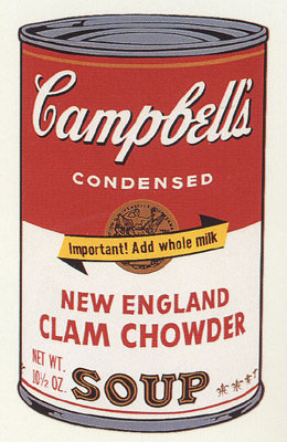 SUNDAY B MORNING WARHOL CAMPBELL SOUP CAN SCREEN PRINT(CalmChw)