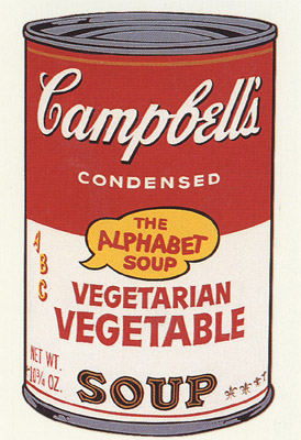 SUNDAY B MORNING WARHOL CAMPBELL SOUP CAN SCREEN PRINT(VegeVeg)
