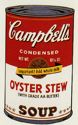 SUNDAY B MORNING WARHOL CAMPBELL SOUP CAN SCREEN PRINT(OystrSt)