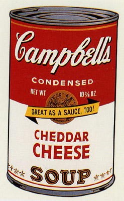 SUNDAY B MORNING WARHOL CAMPBELL SOUP CAN SCREEN PRINT(Cheddar)