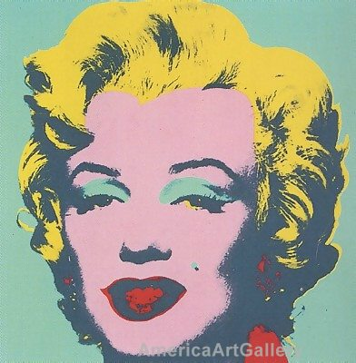 SUNDAY B MORNING WARHOL MARILYN PRINT(Green)