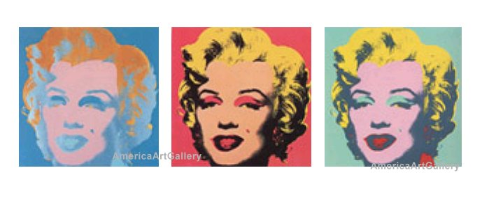 WARHOL SUNDAY B MORNING MARILYN SUITE OF 3 with COA