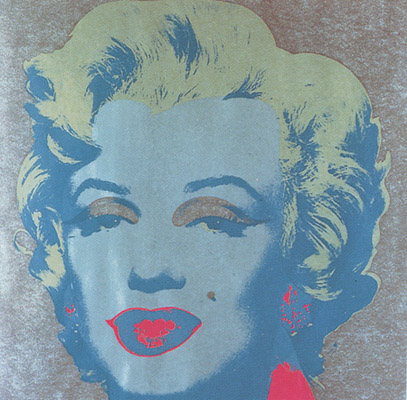 SUNDAY B MORNING WARHOL MARILYN PRINT(Gray)
