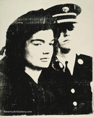 ANDY WARHOL JACKIE KENNEDY GUARDED