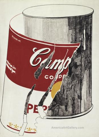 ANDY WARHOL RIPPED SOUP CAN