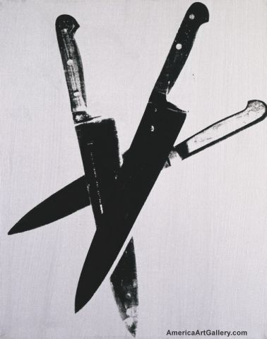 ANDY WARHOL TRIPLE KNIVES