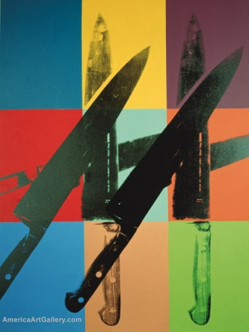 ANDY WARHOL KNIVES IN COLOR