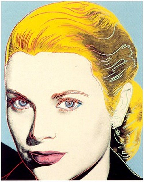 ANDY WARHOL GRACE KELLY LIMITED EDITION SIGNED SCREENPRINT